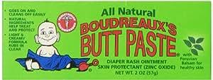 Boudreaux's Butt Paste Diaper Cream, All Natural, 2 Ounce