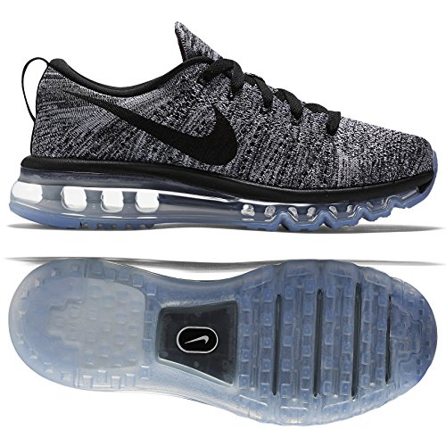 Nike Women's Flyknit Max White/Black Running Shoe 8 Women US (Nike Air Max Flyknit compare prices)