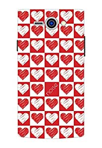 Noise Philips S388 Red and White Hearts Printed Cover