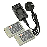 DSTE® 2pcs NP-500 Rechargeable Li-ion Battery + Charger DC17U for Minolta NP-500, NP-600, Konica DR-LB4 and Konica Revio KD-310Z, KD-400Z, KD-410Z, KD-420Z, KD-500Z, KD-510Z , KONICA MINOLTA DIMAGE G400, G530, G600, G500, 500 Digital Cameras