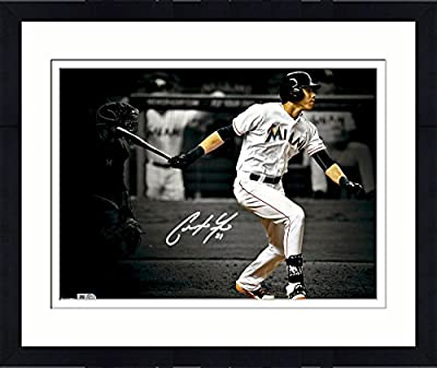 "Framed Christian Yelich Miami Marlins Autographed 11"" x 14"" Spotlight Photograph - Fanatics Authentic Certified"