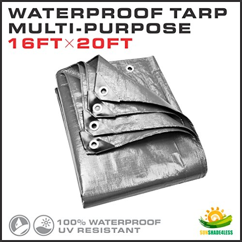 Read About Windscreen4less 16' x 20 ' Multi-Purpose Waterproof Weather Proof Poly Tarp Cover Tent Sh...