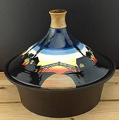 Netherton Foundry Shropshire Smoke Sunset Stove Top Tagine And Cast Iron Bowl by Netherton Foundry Shropshire