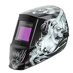 Antra AH6-660-6218 Solar Power Auto Darkening Welding Helmet with AntFi X60-6 Wide Shade Range 4/5-9/9-13 with Grinding Feature Extra lens covers Good for Arc Tig Mig Plasma CSA/ANSI Certified By Colts Lab from Antra