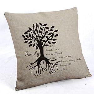 Amazon.com - ilkin Inspirational Quotes 18 X 18 Inch Cotton Linen Decorative Throw Pillow Cover ...