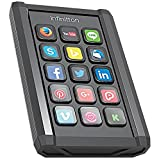 Infinitton Smart Programmable Keypad - Speed up Your Workflow Customizable Keys Featuring Full Color Backlit LCD Windows Mac (Color: Black)