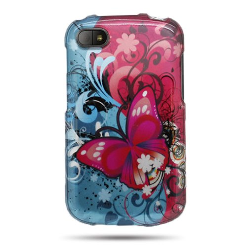 Coveron® Slim Hard Cover For Blackberry Q10 With Case Removal Tool - (Butterfly Bliss)