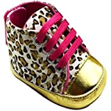 Cute Baby Toddler Infant Leopard Crib Shoes Soft Sole 3-18 Months (12cm (6-12M))