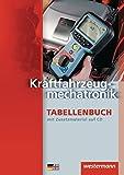 Kraftfahrzeugtechnik Tabellenbuch: Kraftfahrzeugmechatronik Tabellenbuch: 2. Auflage, 2013