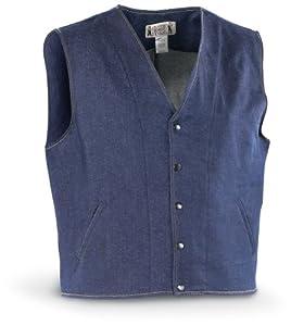Classic Old West Styles Denim Concealment Vest, XL