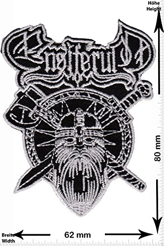 Patch - ENSIFERUM - Viking Axe - MusicPatch - Rock - Chaleco - toppa - applicazione - Ricamato termo-adesivo - Give Away