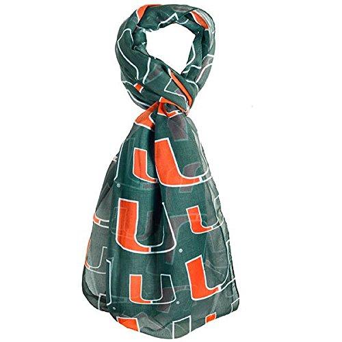 NCAA Miami Hurricanes Team Logo Infinity Scarf, One Size, Green (Miami Hurricanes Football Pants compare prices)