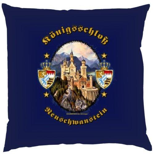 Kissen mit Innenkissen – Königsschloss Neuschwanstein – Biertrinker – 40 x 40 cm – in navy-blau online bestellen