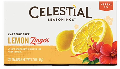 Celestial Seasonings Lemon Zinger Herbal Tea, 20 Count (Pack of 6) (New Mexico Tea Company compare prices)