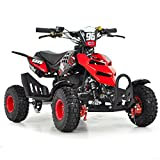 FunBikes Kids Mini Quad Bike 49cc 50cc Petrol Quad - Ride On ATV Midi (Red)