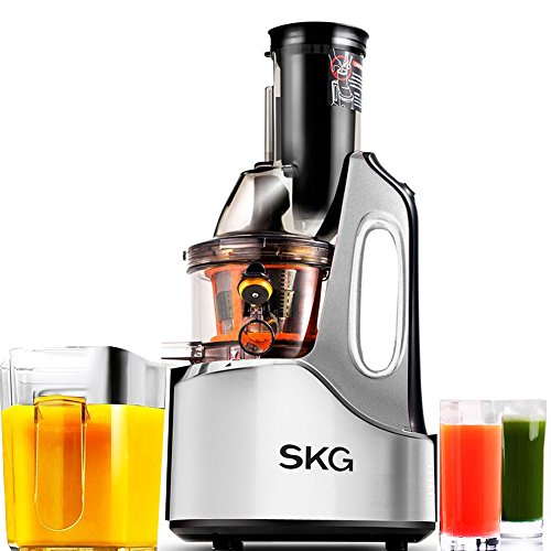 SKG New Generation Wide Chute Anti-Oxidation Slow Masticating Juicer (240W AC Motor, 60 RPMs, 3 ...