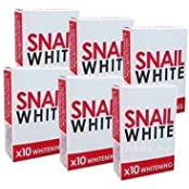 6 X SNAIL WHITE SOAP GLUTATHIONE FACE&BODY BRIGHTENING WHITENING BEAUTY SKIN 70G