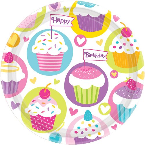 Cupcake Party Dessert Plates Paper (8 per package)