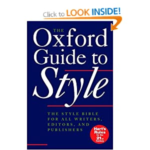 The Oxford Guide To Style Language Reference Amazon Co