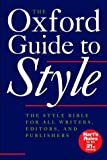 Image of The Oxford Guide to Style (Language Reference)