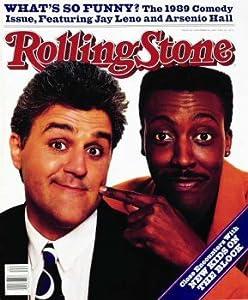 Rolling Stone Cover of Jay Leno & Arsenio Hall / Rolling Stone Magazine Vol. 564, November 2, 1989, Art Print by Bonnie Schiffman