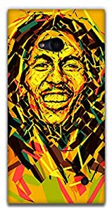 The Racoon Lean Bob Marley hard plastic printed back case / cover for Nokia Lumia 730