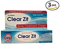 Dr. Sheffield's Clear Zit Maximum Strength 2% Salicylic Acid Acne Treatment Cream, 1 Oz Tube - New and Improved Formula (Pack of 3) made by Dr. Sheffield's