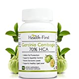 Health First Garcinia Cambogia Extract, 70 % HCA Appetite Suppressant And Weight Loss Supplement, 800 Mg, 90 Capsules