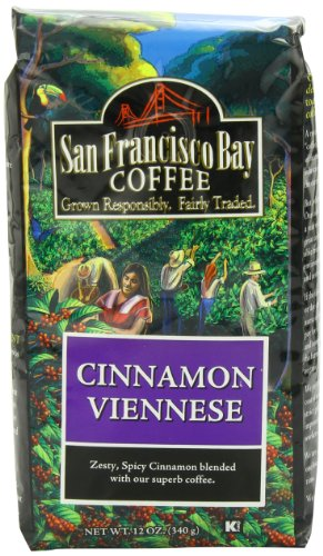 San Francisco Bay Coffee Whole Bean Cinnamon Viennese Coffee, 12-Ounce Bag