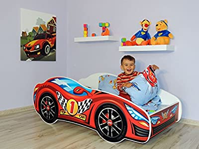 Toddler Children Kids Bed Including Mattress Racing Car