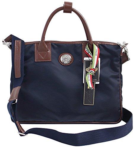 [オロビアンコ]OROBIANCO ミニビジネスバッグ トートバッグ ハンドバッグ バッグインバッグ ショルダーストラップ付き プリゴロ PRIGOLO//PRIGOLO-NY (1)ネイビー×カスターニャブラウン