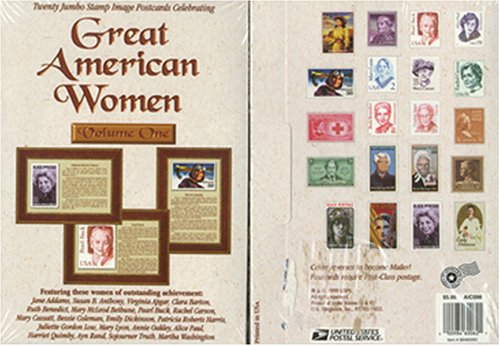 Great American Women - Jumbo Stamp Postcards Vol. 1 - 1
