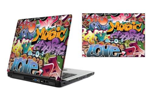13,3 Zoll Laptop Vinyl Skin / Aufkleber - Graffiti Bomben Design