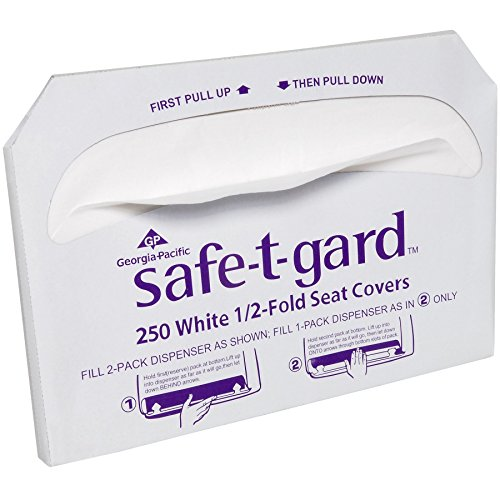 georgia-pacific-47046-safe-t-gard-1-2-fold-toilet-seat-covers-white-1-pack-of-250-by-safe-t-gard