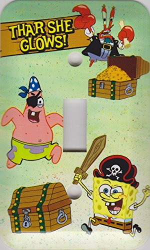 SpongeBob Seaworthy Switchplate (Thar She Glows!)