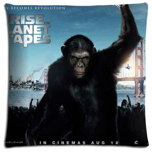 Throw Pillow Cover Cases Zippered MACHINE WASHABLE Rise of the Planet of the Apes Cotton / Polyester 18x18 inch 45x45 cm