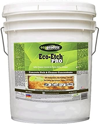 Eco etch pro ee3 8000 5 concrete etching for Environmentally friendly concrete cleaner