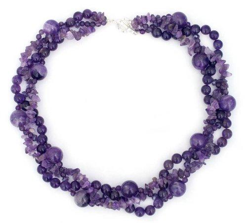 Purple Amethyst Torsade Necklace, 'Glorious'