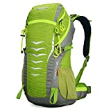 Doleesune 42l Internal Frame Pack for Women Camping Travel Backpack Outdoor Hiking Daypacks Climbing Cycling Bag Waterproof Mountaineering 1311 (Green)