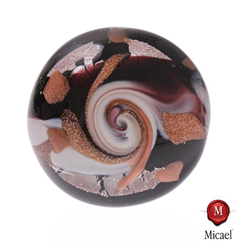 "Murano Glass Ring ""Vistosa"" Open Adjustable -Lila Silber"