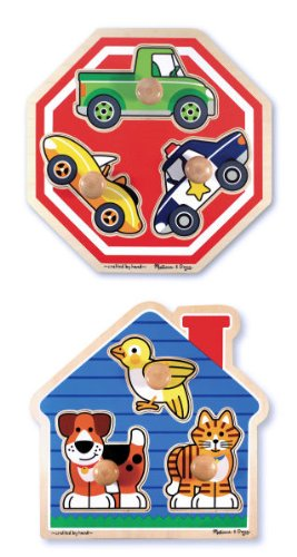 Cheap Fun Melissa & Doug Jumbo Knob Puzzle Bundle: House Pets and Stop Sign (B001D1YO8O)