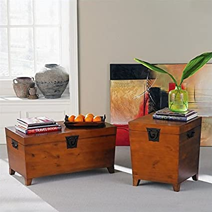 Holly & Martin Dorset 3 Piece Trunk Coffee Table Set in Oak
