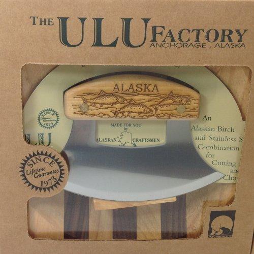 Vaali Ulu Factory Alaska Ulu Birch Walnut Stripe Wood