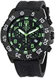 Invicta Men's 1107 Pro Diver Chronograph Black Dial Black Polyurethane Watch