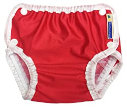 Mother-Ease Swim Diaper - Red - Medium (17-27 lbs)