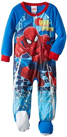 Spiderman Little Boys' Blanklet Sleeper with Cape, Assorted, 4T