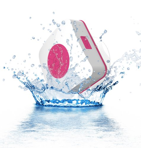 Urge Basics Aquacube Water Resistant Shower Speaker With Suction Cup (Pink)