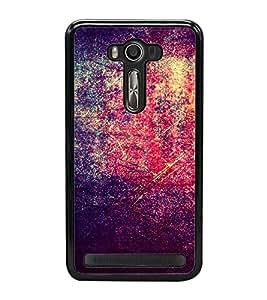 Bright Red Purple Pattern 2D Hard Polycarbonate Designer Back Case Cover for Asus Zenfone 2 Laser ZE500KL (5 INCHES)