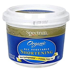 Spectrum Naturals Organic Shortening, All Vegetable, 24-Ounce Containers (Pack of 4)