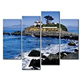 YEHO Art Gallery Painting Battery Point Light Crescent City Picture Print On Canvas City The Picture Home Decor Oil Prints